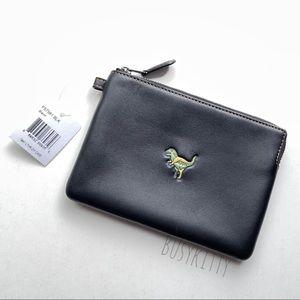 Rare NWT Coach 1941 Black Leather Zip Case w/ Rexy